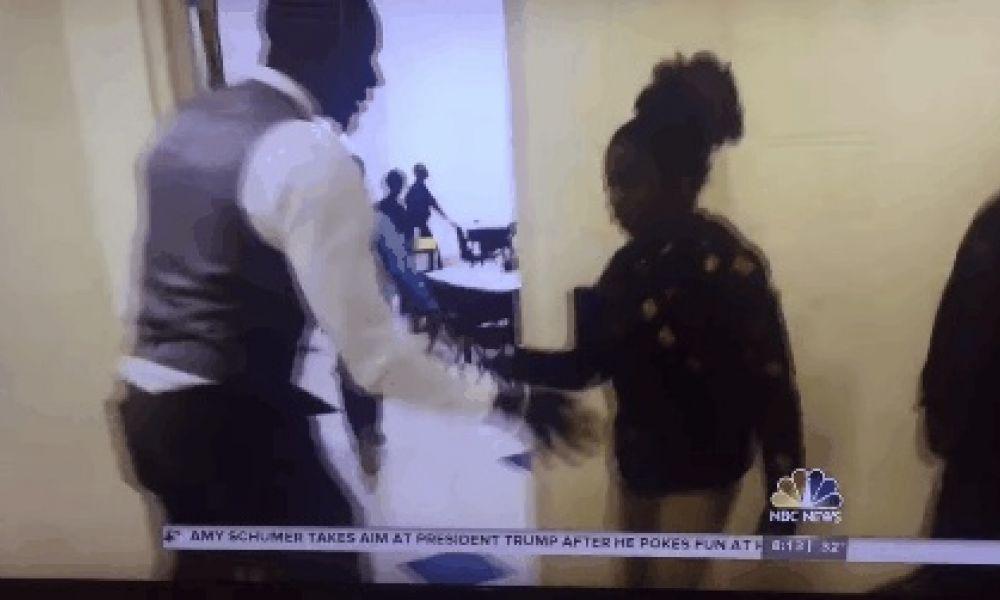 Fifth-grade teacher has an elaborate handshake for each student