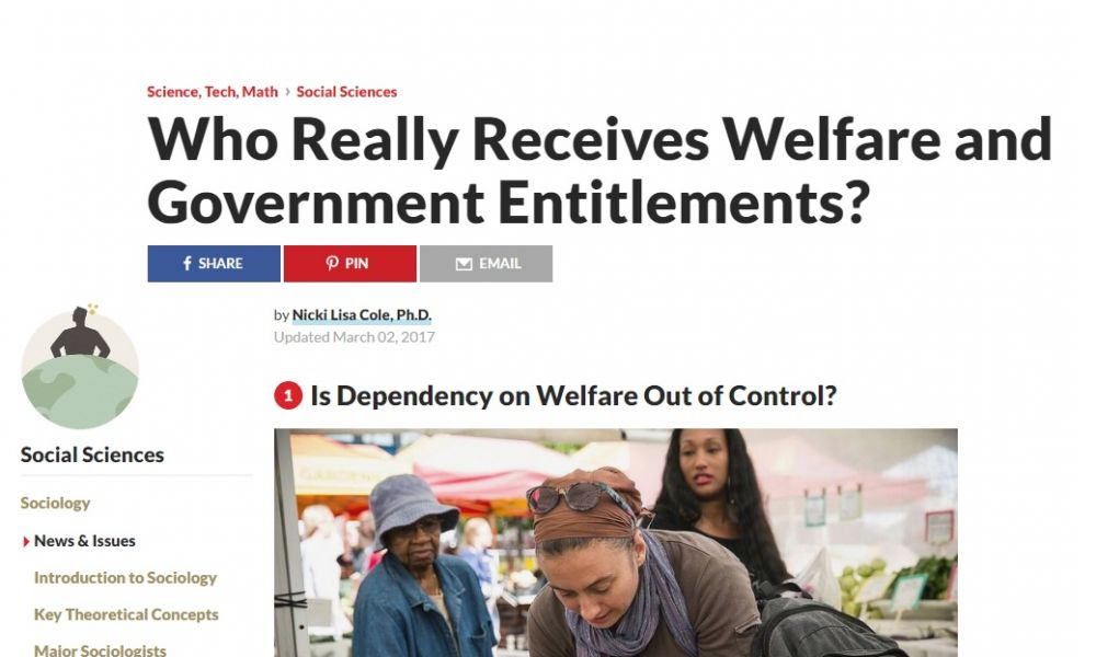 Is Dependency on Welfare Out of Control?