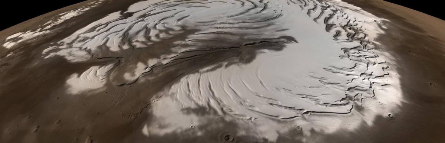 Nighttime Snowstorms May Swirl Across Mars