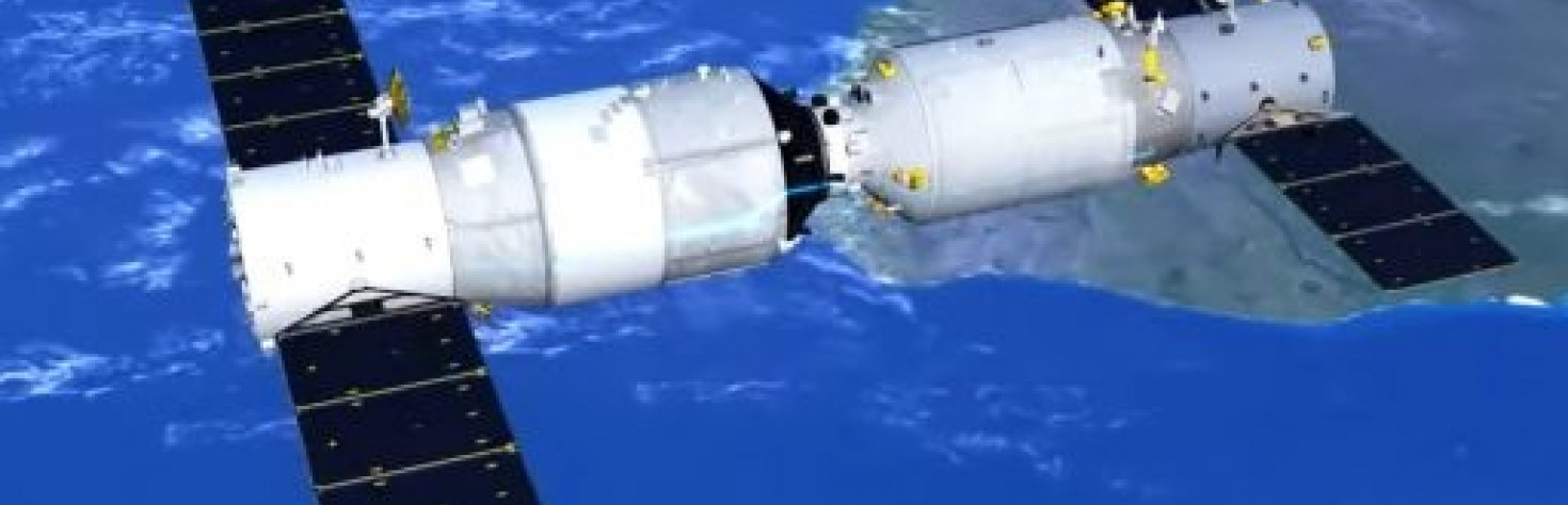 Tianzhou-1 Cargo Craft Re-Joins Tiangong-2 Space Lab after...