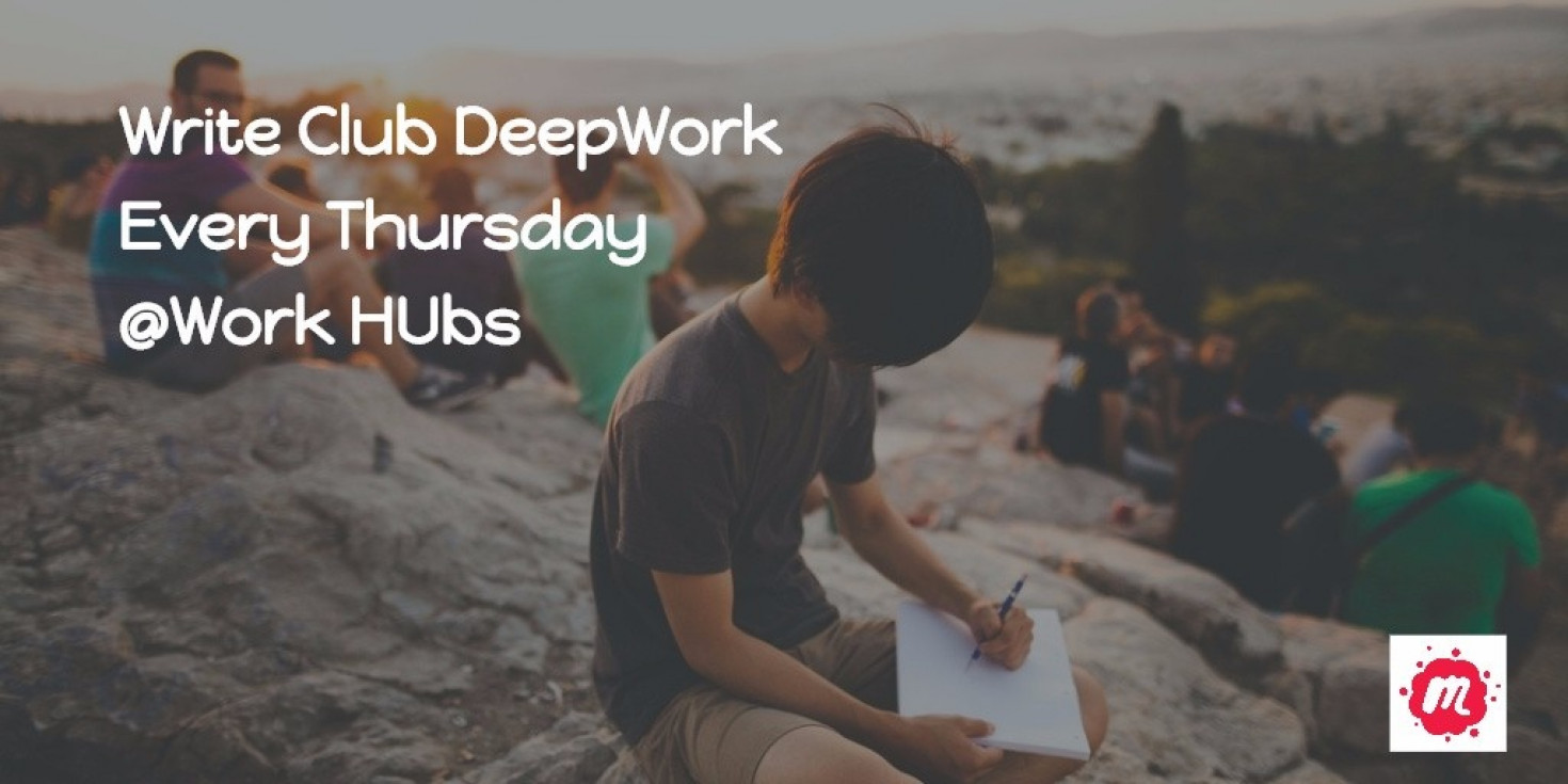 A focused weekly club for writers to engage in