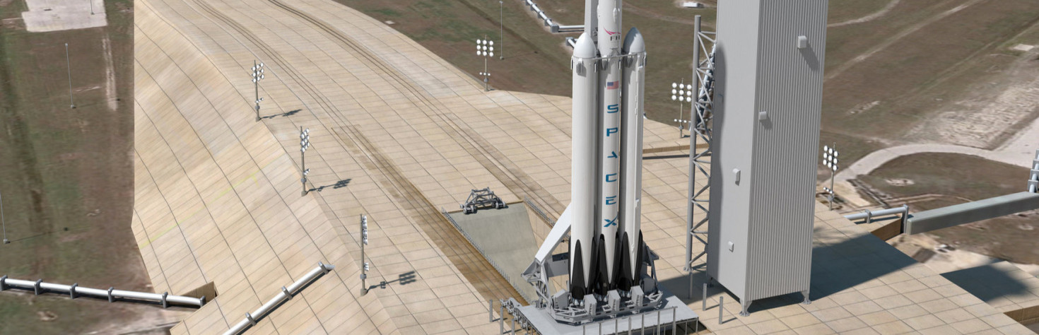 Elon Musk Unveils Falcon Heavy Rocket Photos Ahead of Maiden Flight