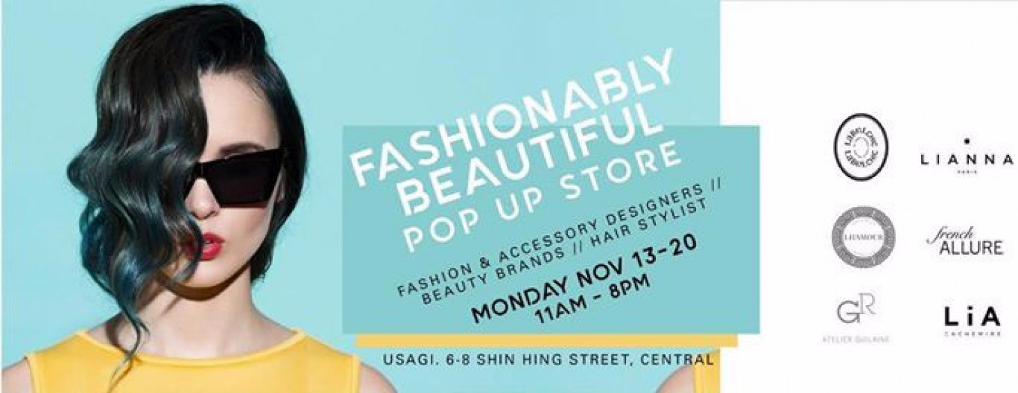 Fashionably Beautiful PopUp Store by Label ChicWED NOV 15 - MON NOV 20 11AM to 6/8PM at