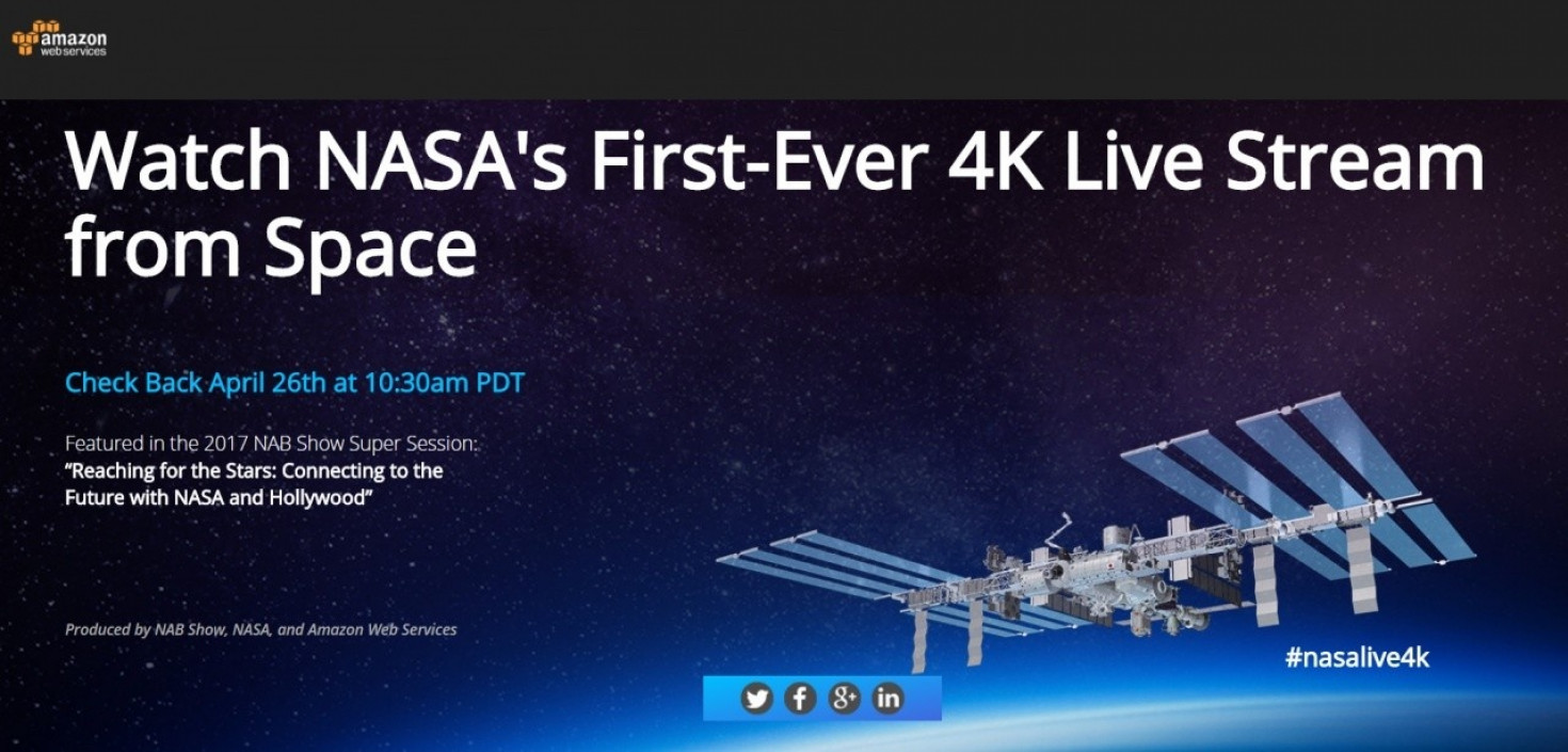 Nasa and Amazon to livestream the first 4K video from space