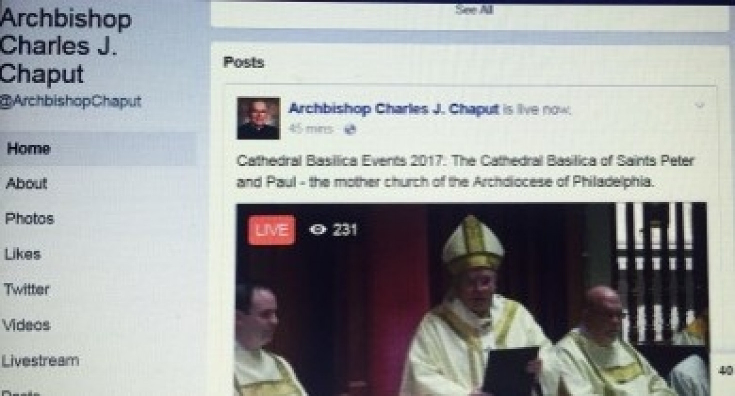 The Philadelphia Archdiocese embraces Facebook Live