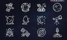 4. Free Space Icons - Hand Drawn Icons