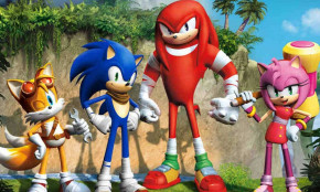 Sonic speeding in the wrong direction on television?