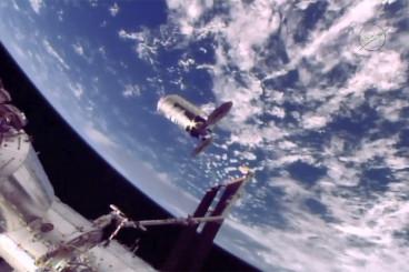Astronauts Command Robotic Arm to Release Cygnus Cargo Craft