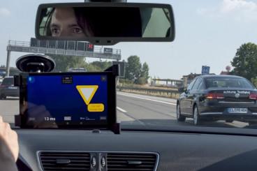 Cars Talk to Cars on the Autobahn