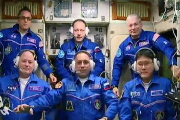Crew From U.S., Russia and Japan Expands Space Population to Six