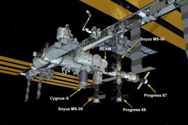 Cygnus Installed on Station With New Science Experiments