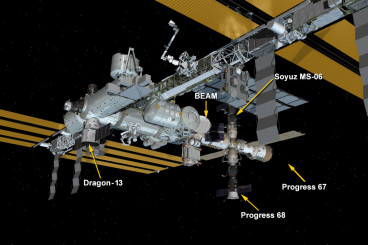 Dragon Attached to Station for Month of Cargo Transfers