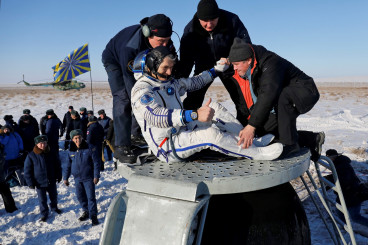 Photos: Soyuz Touches Down in the Depths of Winter with International Crew Trio