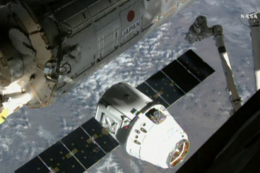 Recycled SpaceX Dragon Capsule Makes 2nd Delivery to Space Station
