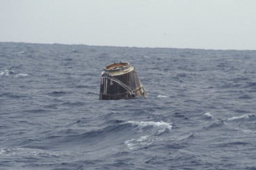 SpaceX Dragon Cargo Craft Splashes Down in Pacific Ocean