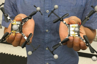 Virtual `top hats` ensure swarming drones won`t crash