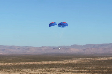 Watch Blue Origin`s New Shepard 2.0 Spacecraft Soar in 1st Test Flight