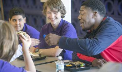 Pack, PAA students bond over lunch and life