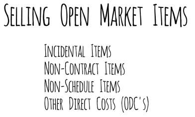Open Market Items under a GSA Contract order
