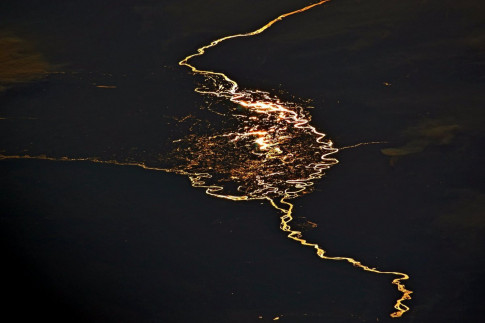 Astronaut Spies Fiery River from the International Space Station
