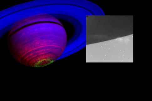 Cassini Spots `Ghostly Curtains of Light` Near Saturn`s South...