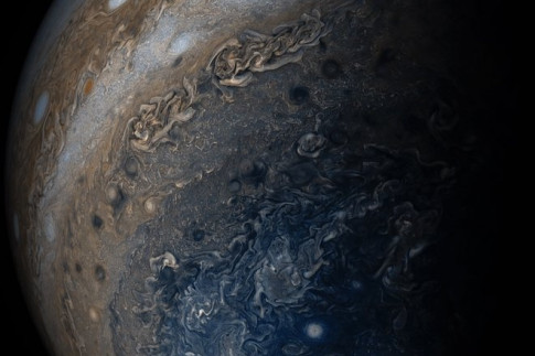 Colorful Clouds on Jupiter by Juno