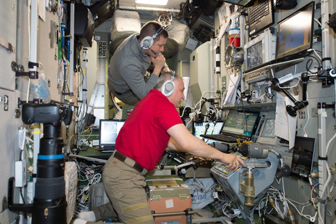 Crew Explores Cardiac Research and Tiny Satellites Today