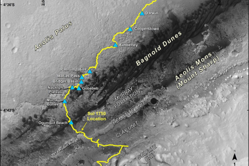 Curiosity Mars Rover Begins Study of Ridge Destination | Mars...