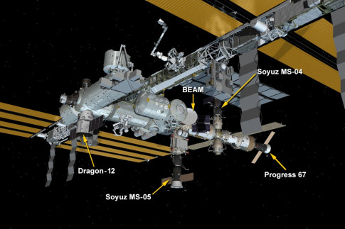 Dragon Installed to Station for Month of Cargo Swaps