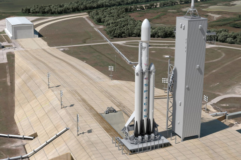Elon Musk Says SpaceX`s First Falcon Heavy Launch Will Lift Off...