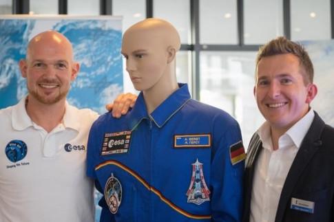 ESA-Astronaut Alexander Gerst beim Sommerfest in Künzelsau &...