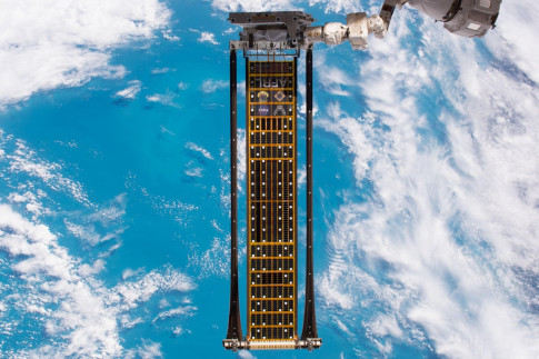 Farewell, ROSA! Space Station Lets Go of Roll-Out Solar Array...