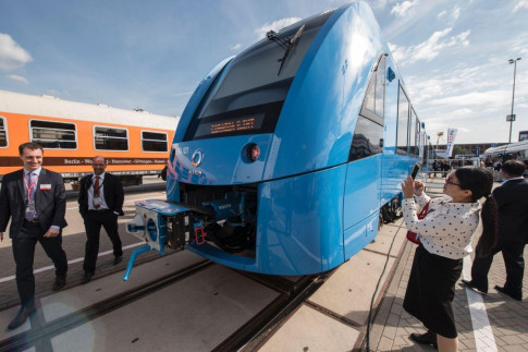 Germany has unveiled a zero-emissions train that only emits water