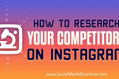 How to Research Your Competitors on Instagram : Social Media...