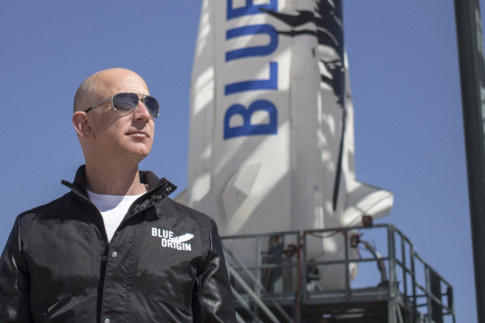 Jeff Bezos Makes Instagram Debut in Wild Blue Origin Rocket...