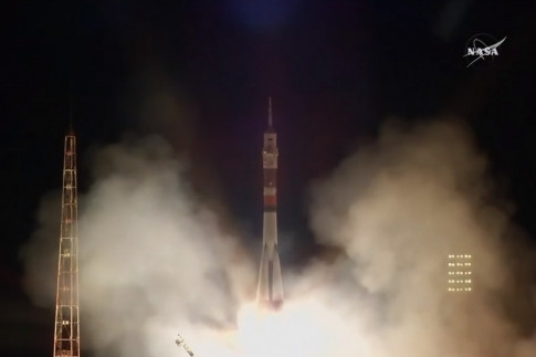 New US-Russian Crew Launches to Space Station on Soyuz Rocket