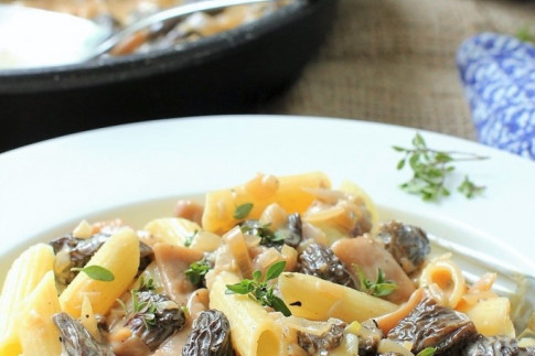 Pasta with Morel Mushrooms | Kitchen Frau