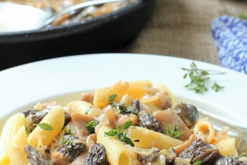 Pasta with Morel Mushrooms | Kitchen Frau