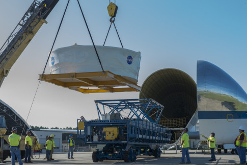 SLS Test Hardware Loaded into NASA`s Super Guppy Aircraft