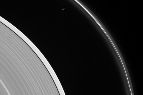 @therogue_astro: NEW Cassini photo!! Prometheus and...