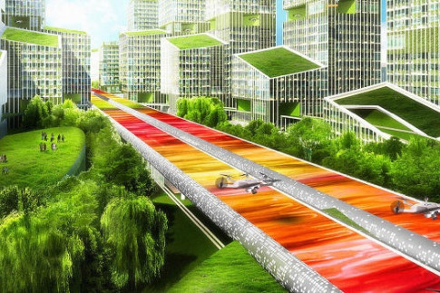 This Future Highway Will Remove Lanes, But Add Public Transit And Space For Drones