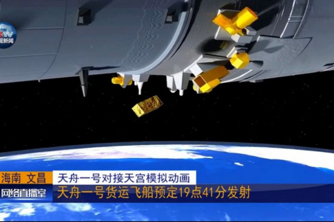 Tianzhou-1 and Tiangong-2 undock, enter free flight phase