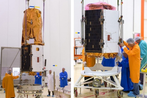 Vega is prepared for the twin Earth observation payloads to be...
