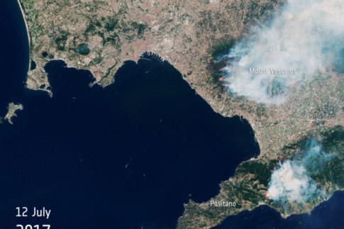 Vesuvius on fire - News - Sentinel-2 - ESA Missions - Earth...