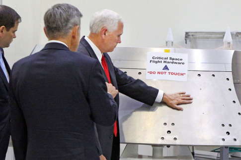 Why NASA Says It`s OK That VP Mike Pence Touched Orion Cover