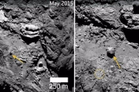 Before and After: Unique Changes Spotted on Comet 67P/ Churyumov-Gerasimenko