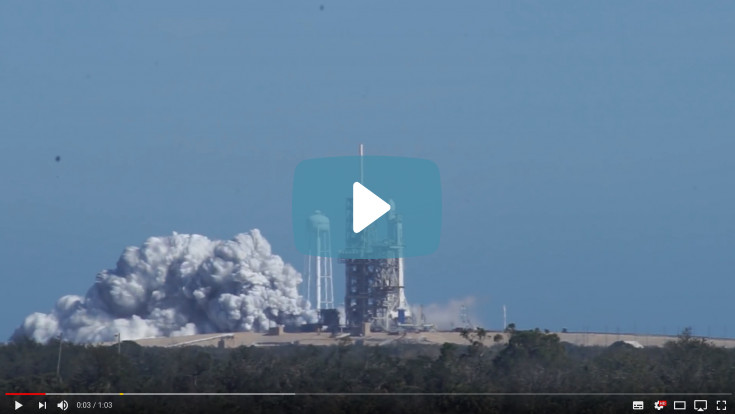01/24/2018 - Historic Falcon 9 Heavy Test Fire!