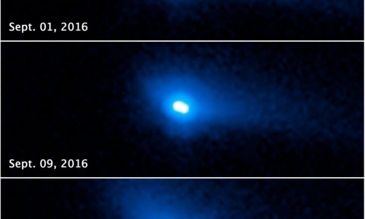 288P: Hubble entdeckt aktiven Doppel-Asteroiden