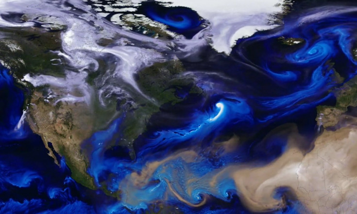 Aerosols Eddy and Spiral Over Earth in Mesmerizing NASA Simulation