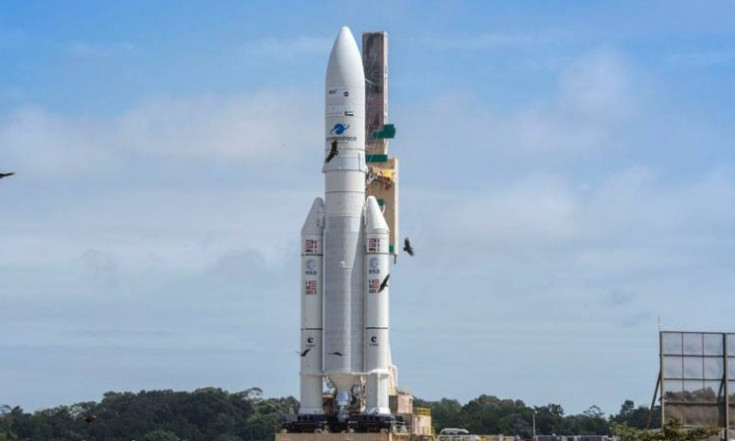 Ariane 5 Reaches Launch Pad for Dual-Payload Delivery with SES 14 & Al Yah 3 – Ariane 5 VA241   Spaceflight101